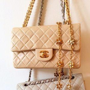 """CHANEL Vintage Classic Double Flap Bag 9"""""""